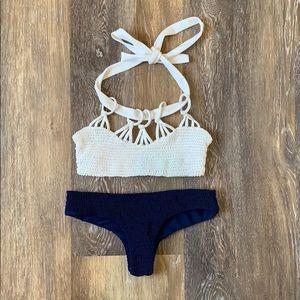 Tori Praver Saffron Smocked Bikini